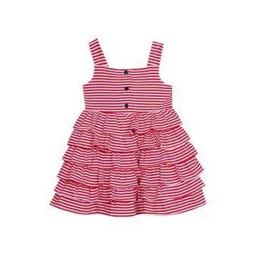 Rare Editions Girls' Toddler Girls Red Gingham Midi Dress - -