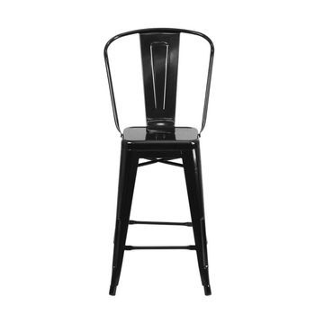 Offex 24'' High Metal Counter Height Stool