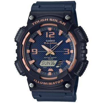 Casio Men's Analog-Digital Black Resin Strap Watch 46.6mm