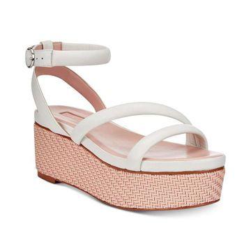 Avec Les Filles Womens Ava Open Toe Casual Platform Sandals