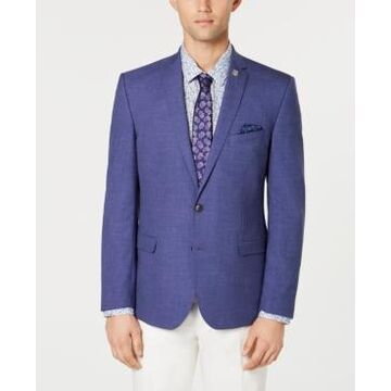 Nick Graham Men's Solid Stretch Slim-Fit Denim Sport Coat