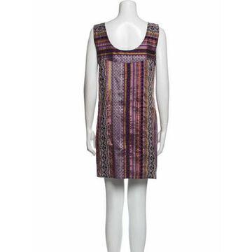 Printed Mini Dress Purple