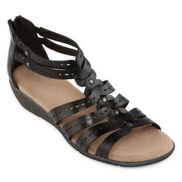 Yuu Womens Fahna Ankle Strap Gladiator Sandals