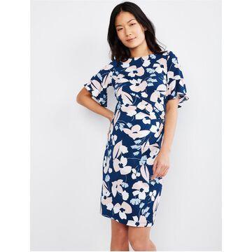 Taylor Flutter Sleeve Floral Maternity Dress