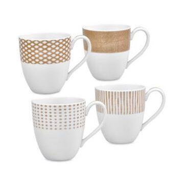 Noritake Hammock 4-Pc. Assorted Mug Set, Created for Macy's