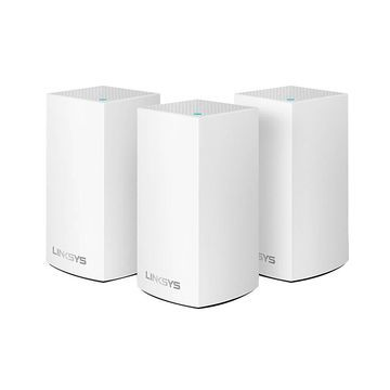 Linksys Velop Intelligent Mesh 2-Port Gigabit Ethernet Wi-Fi Systems, WHW0103, Pack Of 3 Systems