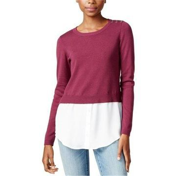 maison Jules Womens Layered-Look Pullover Sweater