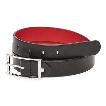 Mixit Women's Shiny Nickel Reversible Belt