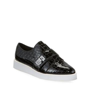 Celina Mock Croc Patent Sneakers