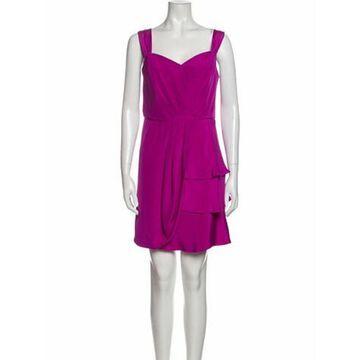 Silk Mini Dress Pink