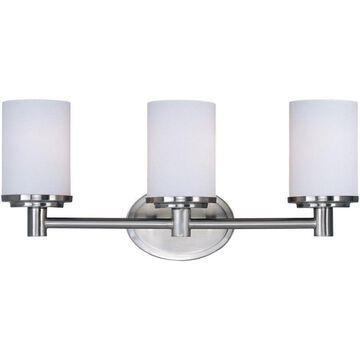 Maxim Lighting Cylinder 3-Light Nickel Modern/Contemporary Vanity Light