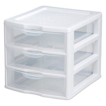 Sterilite 3 Drawer Clear Mini Unit