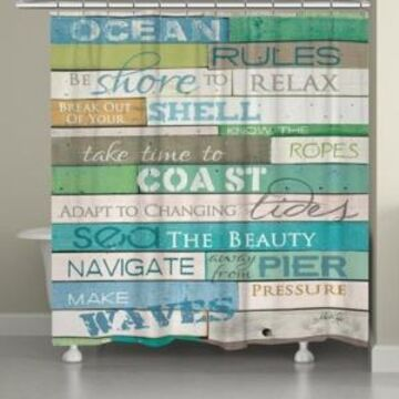 Laural Home Ocean Rules Shower Curtain Bedding