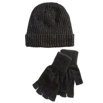 Ryan Seacrest Distinction Mens Donegal Beanie Gloves