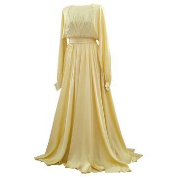 Nina Ricci Yellow Silk Dresses