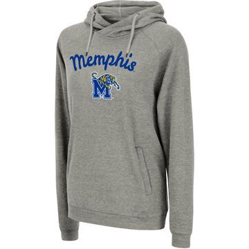 Colosseum Women's Memphis Tigers Grey Pullover Hoodie