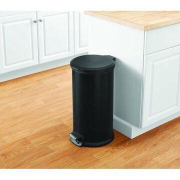 Mainstays 10.5G Black Round Waste Can