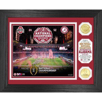 Highland Mint Alabama Crimson Tide College Football Playoff 2020 National Champions 13'' x 16'' Celebration Bronze Coin Photo Mint
