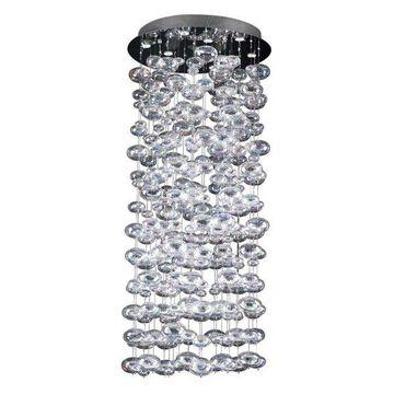 PLC Lighting Bubbles 10 Light Chandelier in Polished Chrome