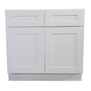 Design House Brookings Ready to Assemble 42 x 34.5 x 24 in. Base Cabinet Style 2-Door with 2-Drawer in White