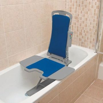 Drive Medical Whisper Ultra Quiet Bathtub Lift Blue Cover