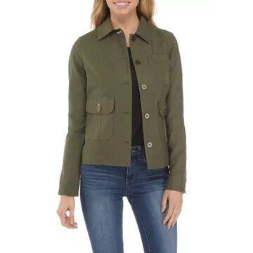 Rafaella Women's Long Sleeve Contrast Print Jacket -
