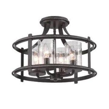 Designers Fountain 87511 Palencia 4 Light Semi-Flush Ceiling Fixture - Artisan Pardo Wash (Artisan Pardo Wash)