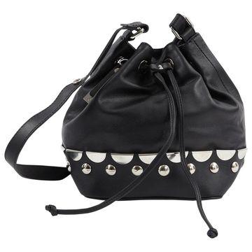 Diesel Black Gold Black Leather Handbags