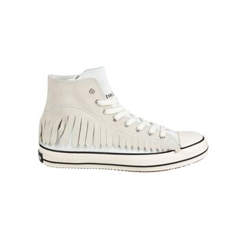Palm Angels Fringe Basket High Vulcanized Sneakers