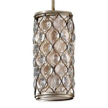 Feiss 1-Light Mini-Pendant in Burnished Silver