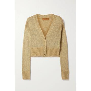 Altuzarra - Isla Cropped Sequin-embellished Knitted Cardigan - Neutrals