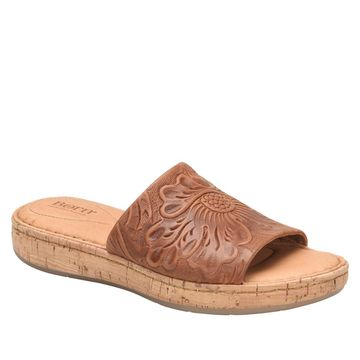 Born Fishlake Embossed Leather Slide Sandal