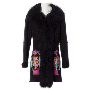John Galliano Black Shearling Coats
