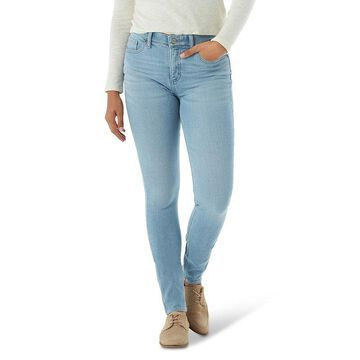 Women's Lee Ultra Lux Comfort Waistband Denim Skinny Jeans, Size: 10 Short, Light Blue