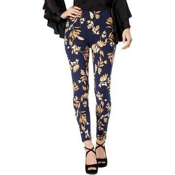 Thalia Sodi Womens Floral Mid-Rise Leggings