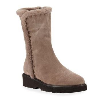 Kalena Fur-Lined Suede Boots
