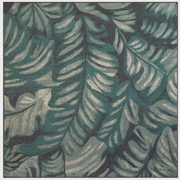 Trans Ocean Riviera Palm Area Rug, Blue, 7'10