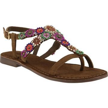 Azura Women's Anatia Thong Sandal Taupe Suede