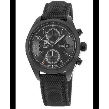 Hamilton Khaki Field Auto Chrono Full Black Men's Watch H71626735 H71626735