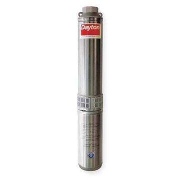 DAYTON 1LZX8 Pump,Deep Well,2 Wire,7GPM,1/2HP,115V