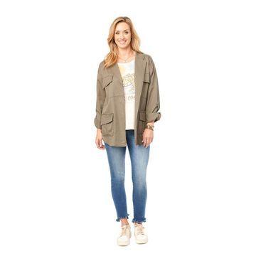 Democracy Women's Studded Patch-Pocket Jacket