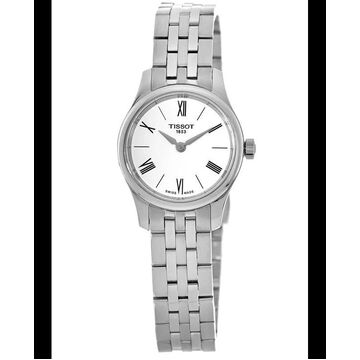 Tissot T-Classic Tradition White Dial Stainless Steel Women's Watch T063.009.11.018.00 T063.009.11.018.00