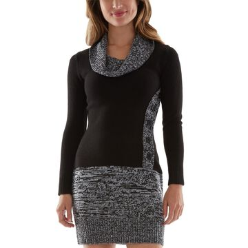 Bcx Juniors' Marled Cowlneck Sweater Dress