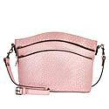 Patricia Nash Lorraine Leather Triple-Zip Crossbody Bag - Blush Woven