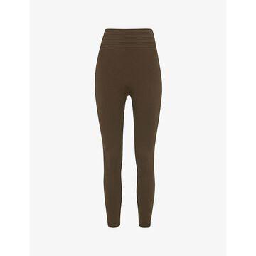 Whistles Womens Khaki/olive Studio High-rise Stretch-jersey Leggings S