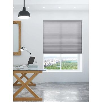 """Arlo Blinds Grey Light Filtering Cordless Cellular Shades (58""""W x 72""""H)"""