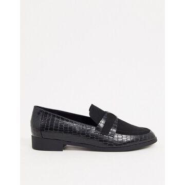 London Rebel smart loafers in black