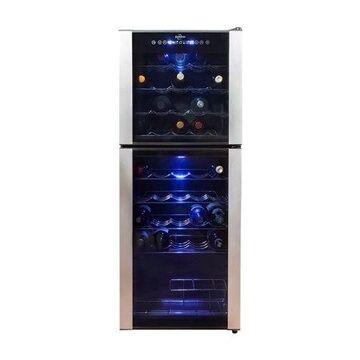 Koolatron Elite Series 45 Bottle Dual Zone Wine Cooler Freestanding Wine Cellar