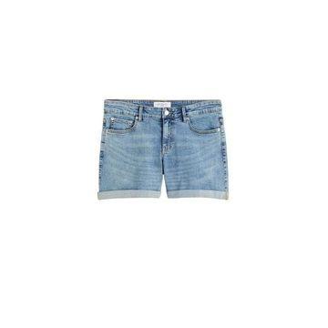 Violeta BY MANGO - Denim shorts medium blue - 16 - Plus sizes