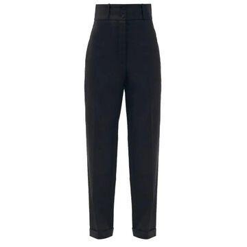 Roksanda - Medea High-rise Wool Grain De Poudre Trousers - Womens - Black